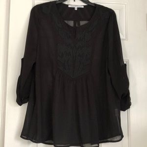 Stitch Fix Collective Concepts XL sheer black top